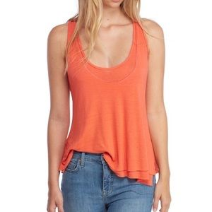 NWT Free people karmen layered tank top LARGE